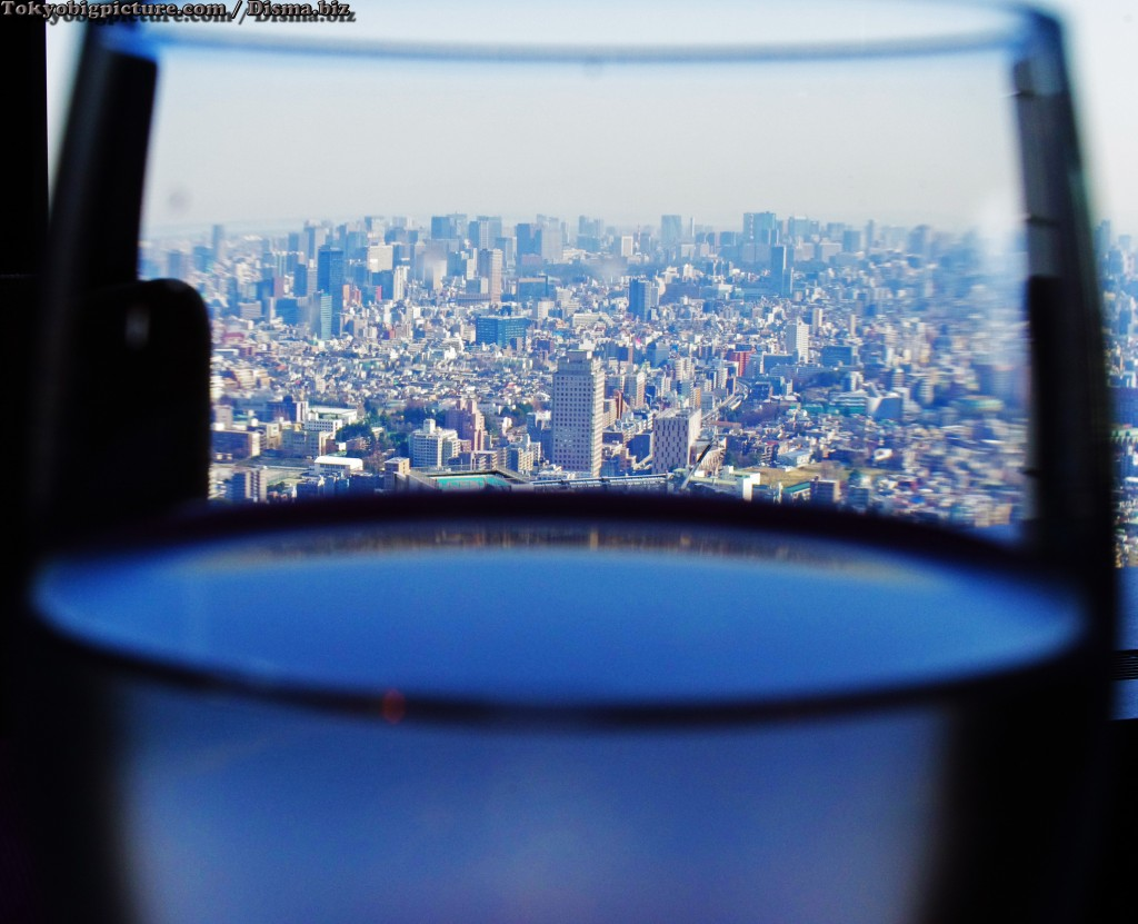 a glass of tokyo